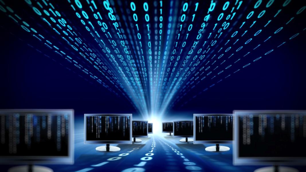rete di computer con sopra codice