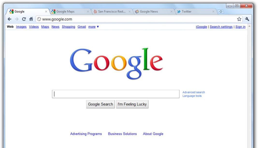 google, schermata principale
