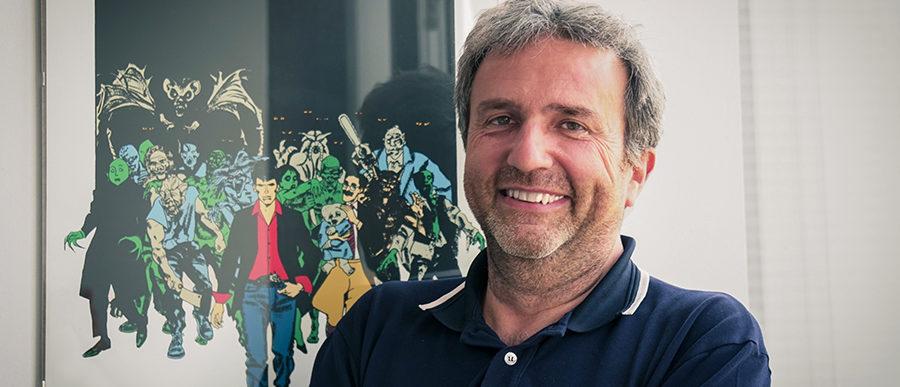 Luca Foglino in ufficio