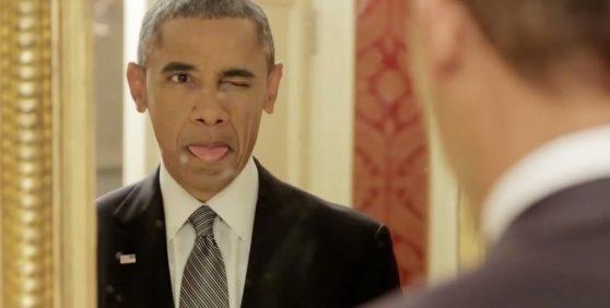 Barack Obama che fa la linguaccia