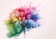 esplosione di inchiostro colorato