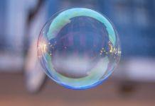 Soap bubble representing fake news.